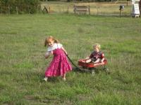 Bellingham Country Gardens - girl and boy wagon