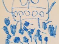 Blue Dot Farm - blue monster