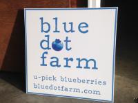 Blue Dot Farm - sign